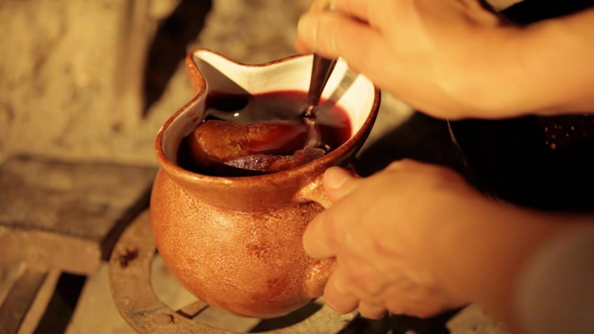 Rotweinsuppe